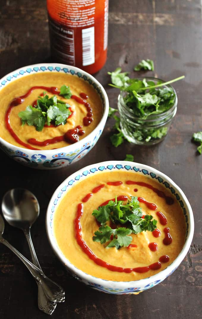 Spicy coconut carrot soup