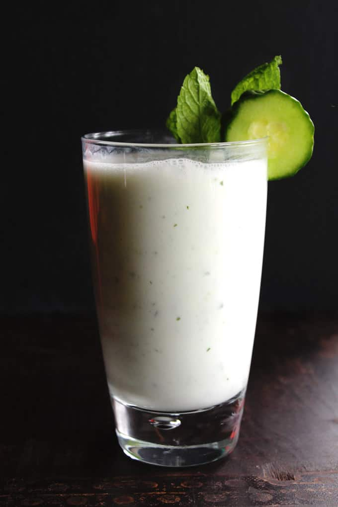 Cucumber doogh: Afghan yogurt drink