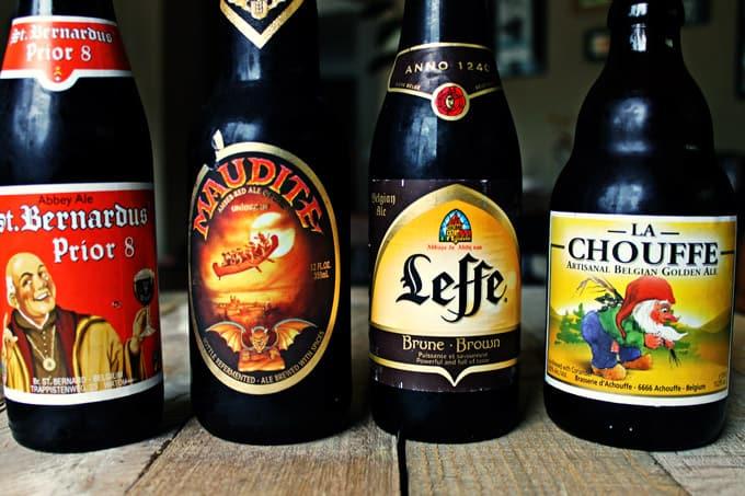 A Belgian beer tasting