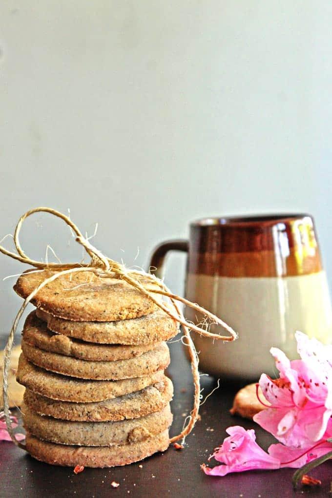 Chai and rose nankhatai cookies