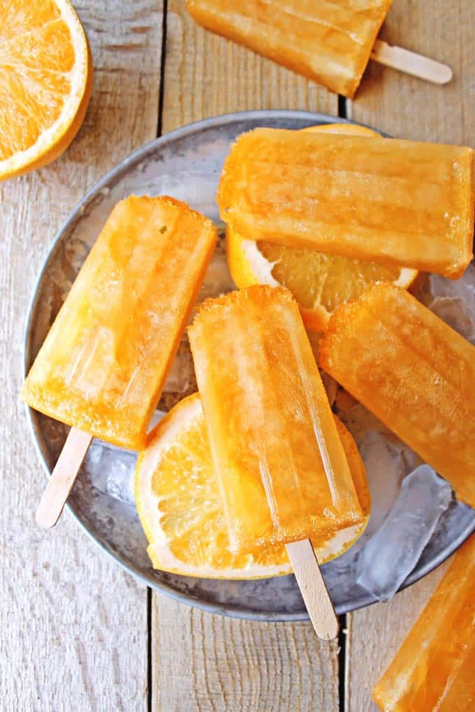 Grapefruit shandy beersicles // Rhubarbarians