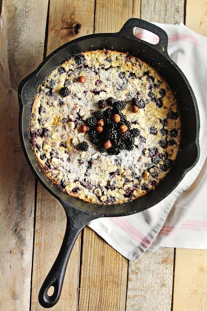 Blackberry hazelnut clafoutis | Rhubarbarians