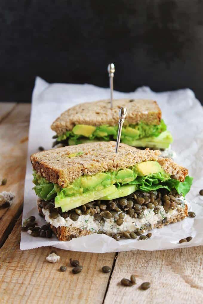 lentil sandwich