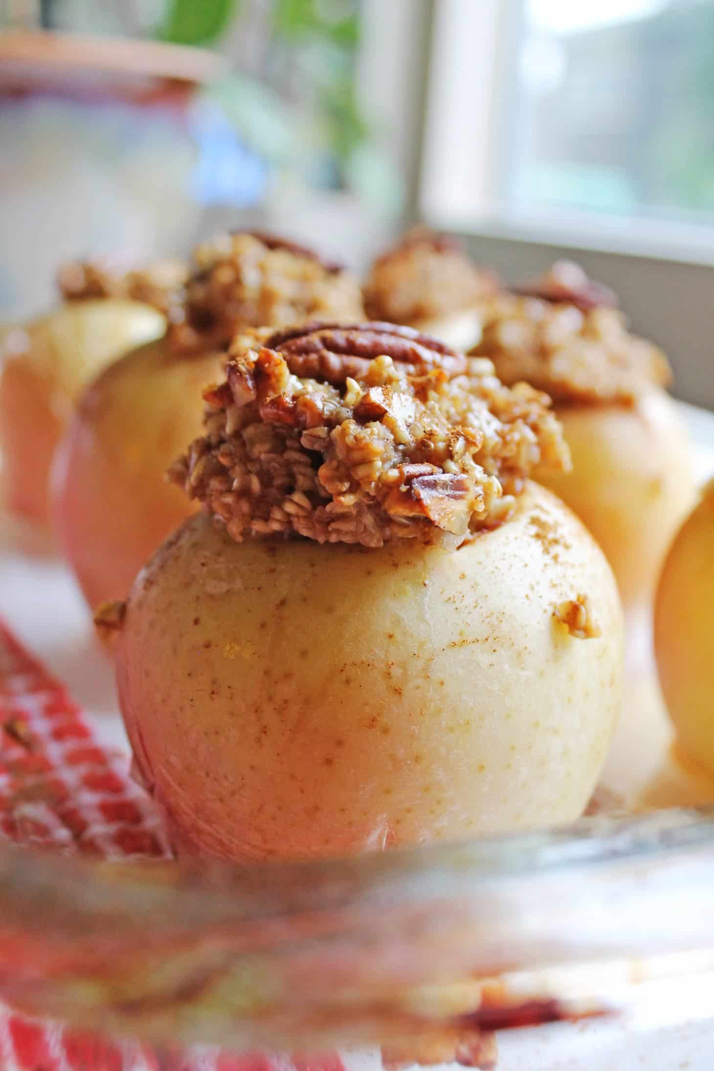 Cozy Breakfast Baked Apples With Oatmeal Rhubarbarians