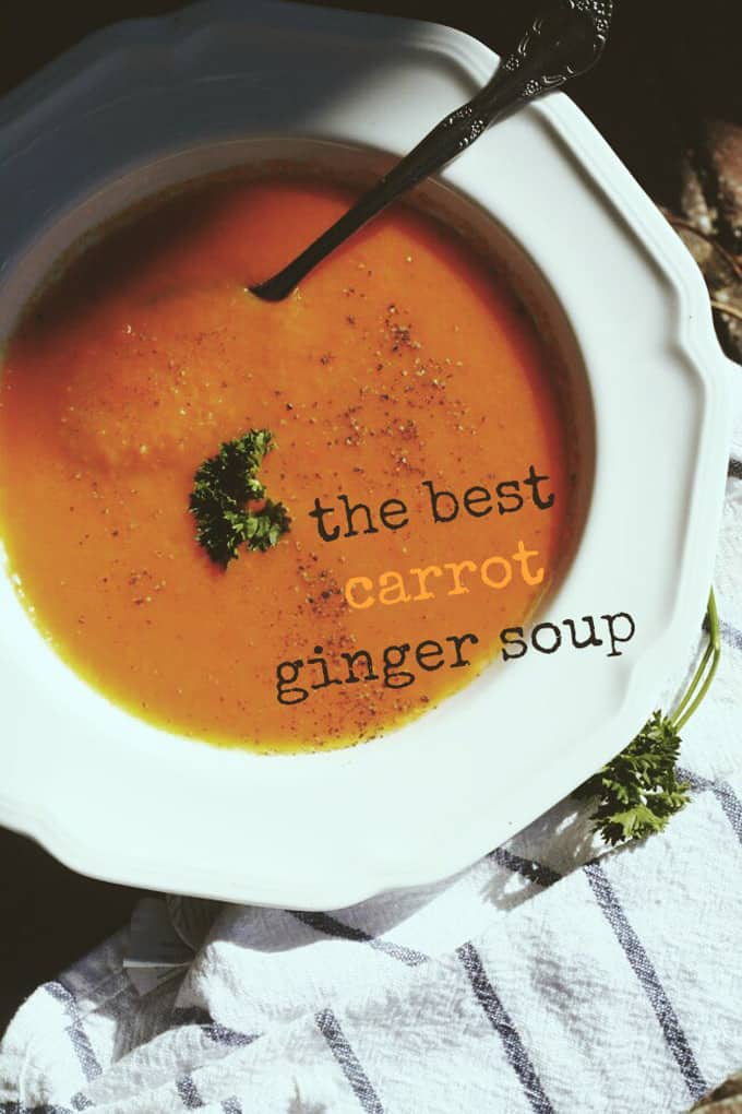The best carrot ginger soup + 14 amazing holiday side dishes! Amazing holiday side dish recipes from your favorite food bloggers, The Foodie Mamas!