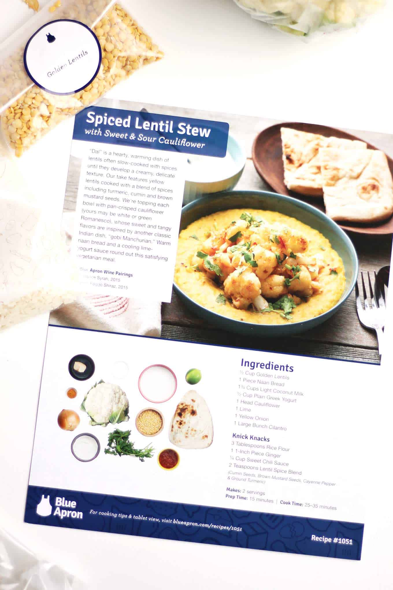 Spiced lentil stew with sweet and sour cauliflower recipe! Yellow lentils spiced with turmeric, cumin, and brown mustard seed, and topped with crispy sweet and sour cauliflower. A delicious, healthy, and hearty vegetarian dinner that the whole family will love. Vegetarian, and easily adapted to a vegan and/or gluten free diet. So good! - Rhubarbarians