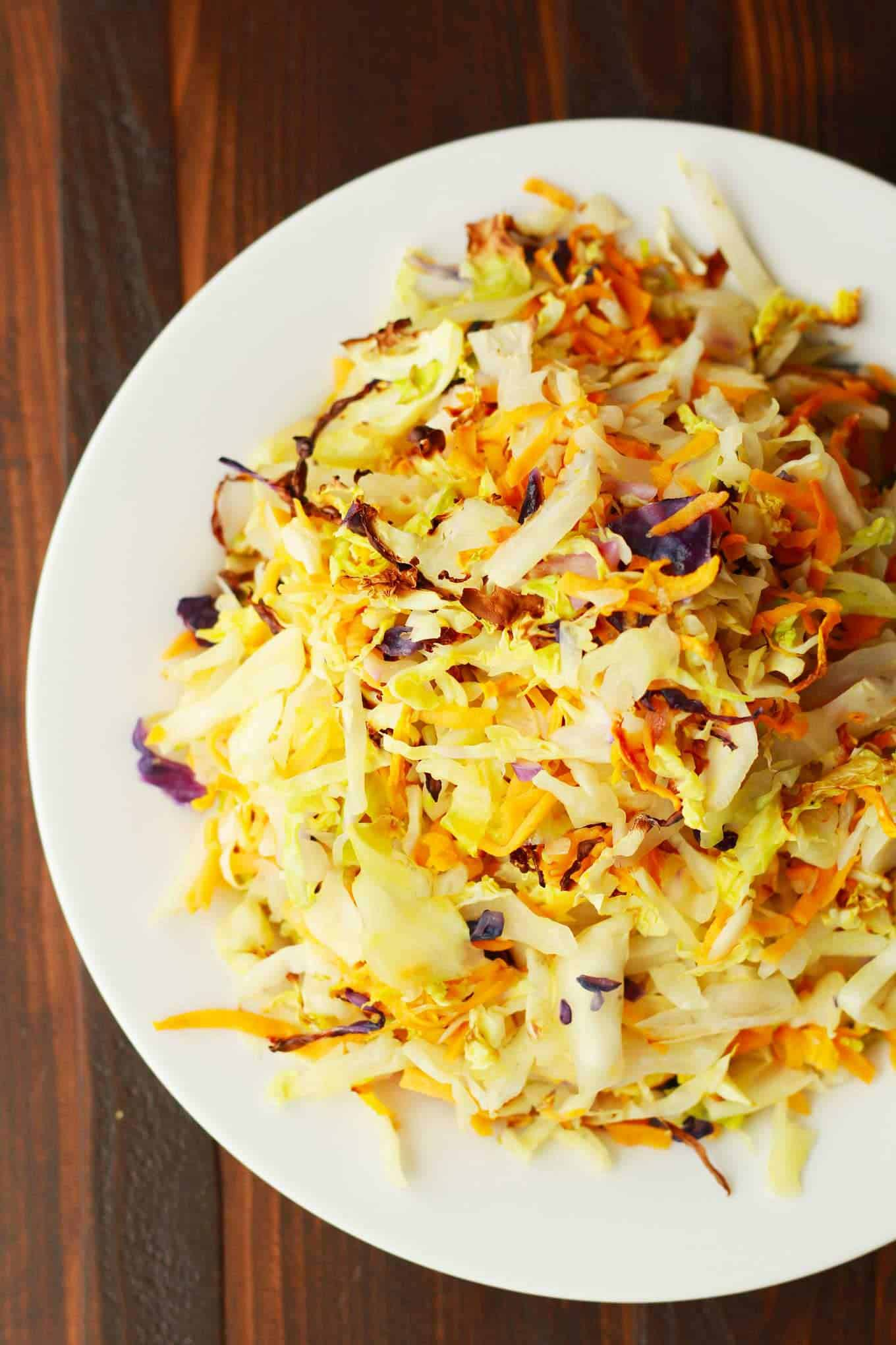 Roasted winter slaw + 15 Farmers market recipes to make in January! Delicious, winter, (mostly) healthy recipes made with fresh, seasonal produce from your local farmers market or CSA bin. Eat local!