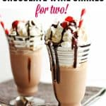 Valentine's Day chocolate wine shakes