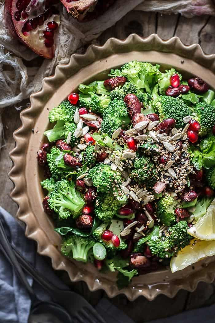 Popped beans and steamed broccoli salad + 15 Farmers market recipes to make in March! Delicious, vegetarian, late winter/ early spring, (mostly) healthy recipes made with fresh, seasonal produce from your local farmers market or CSA bin. Eat local!