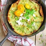 Savory dutch baby with herbs