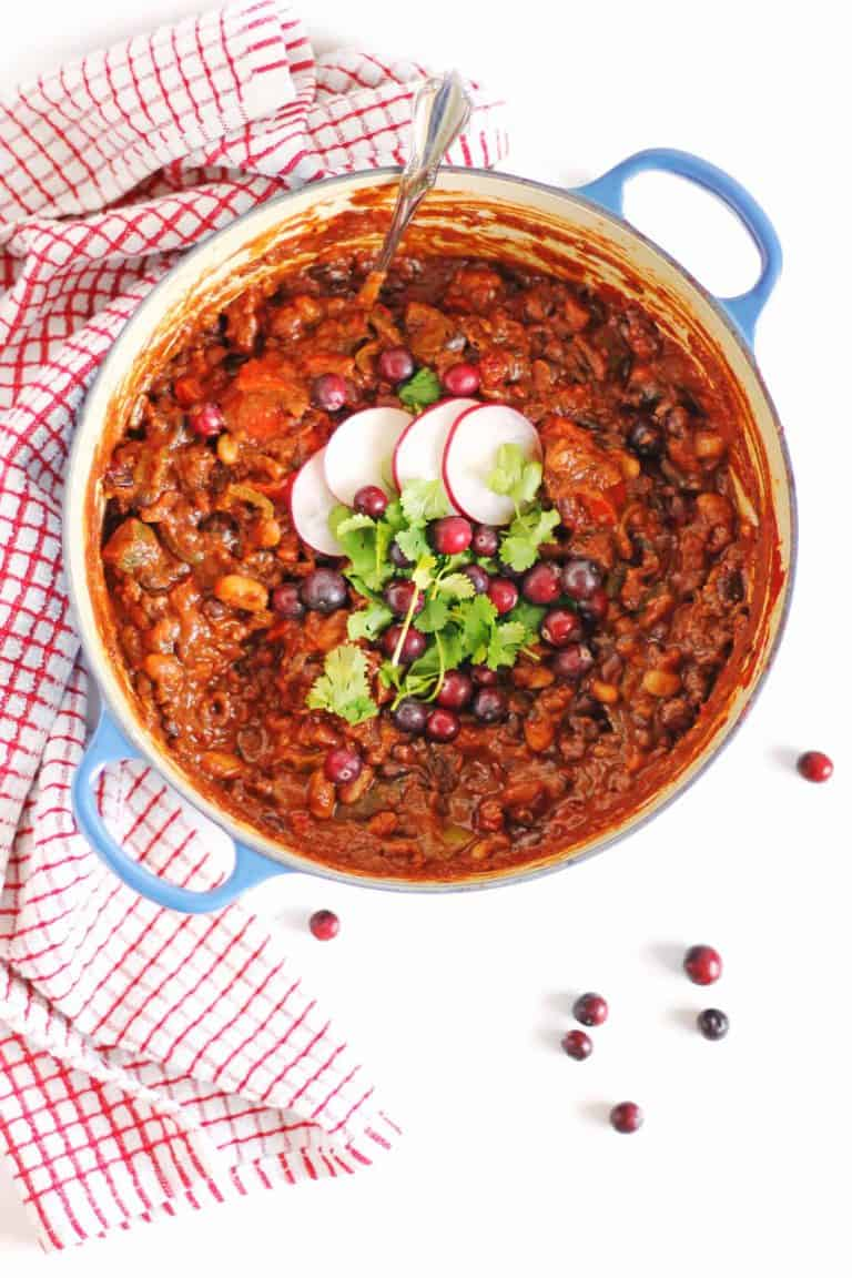 Vegan cranberry chili
