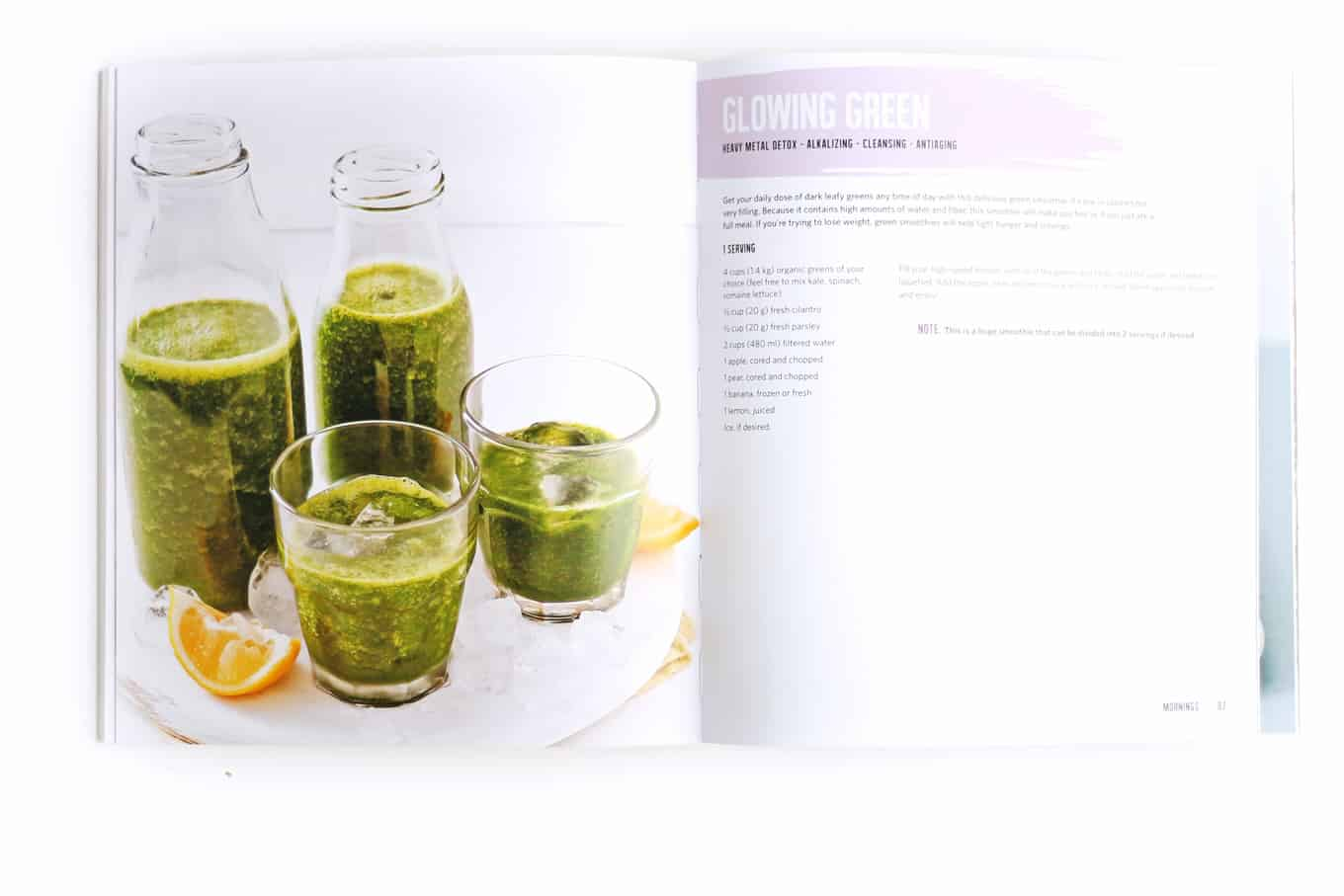 Glowing green smoothie recipe from The Vegan Weight Loss Manifesto