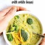 healthy broccoli cheddar soup