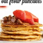Yogurt oat flour pancakes