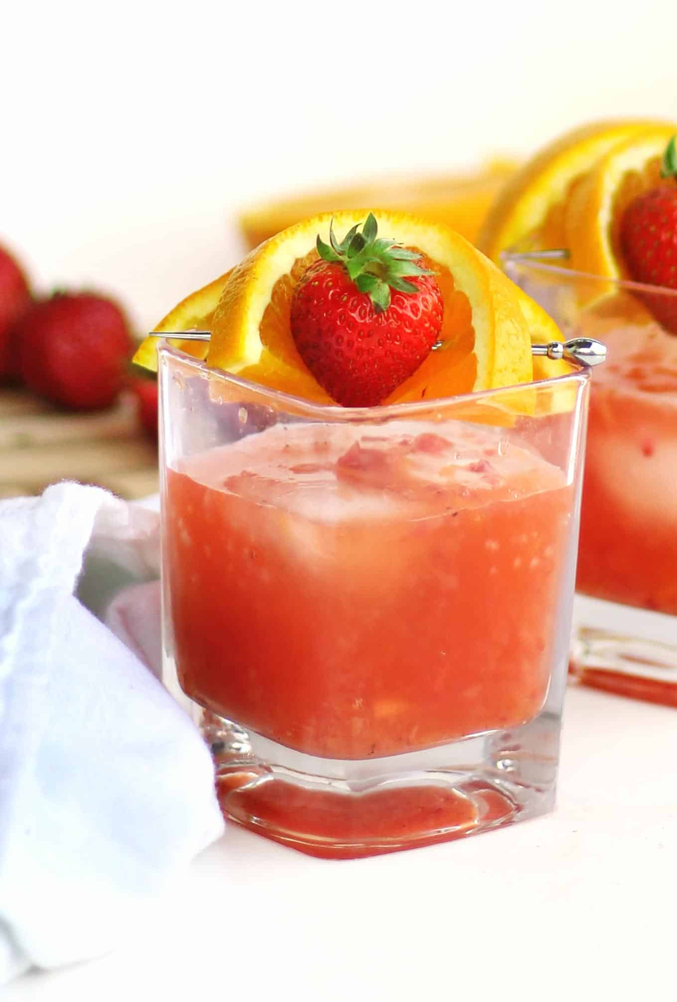 strawberry orange summer cocktail
