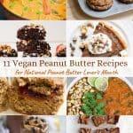 vegan peanut butter recipes collage pin