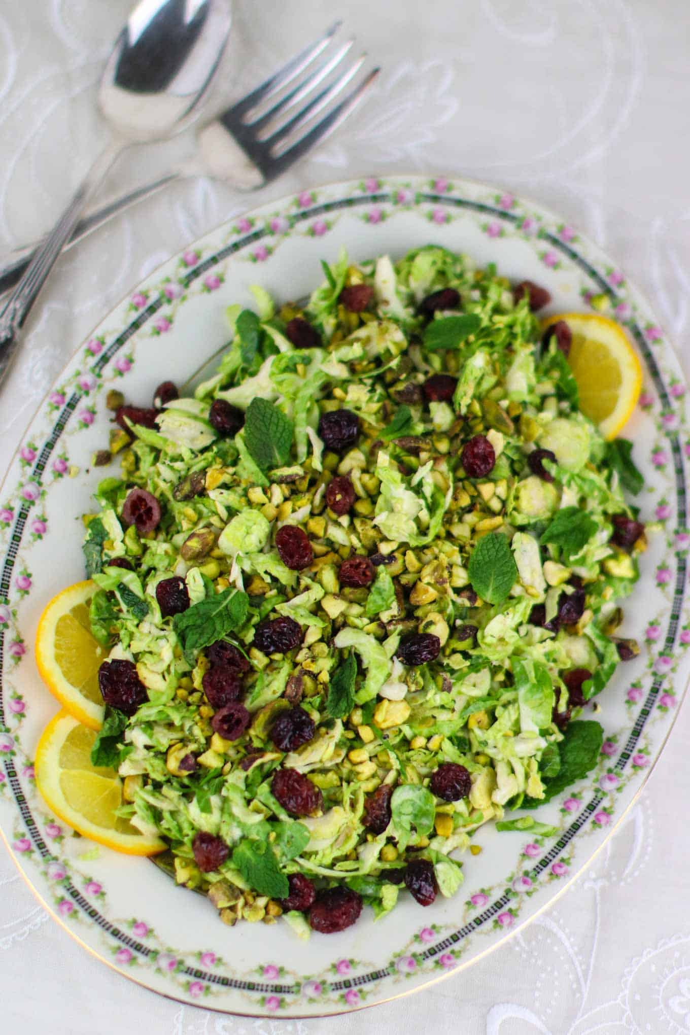vegan brussels sprouts salad
