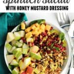 pear apple spinach salad pinterest
