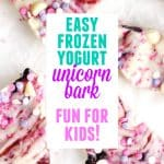 frozen yogurt unicorn bark pinterest