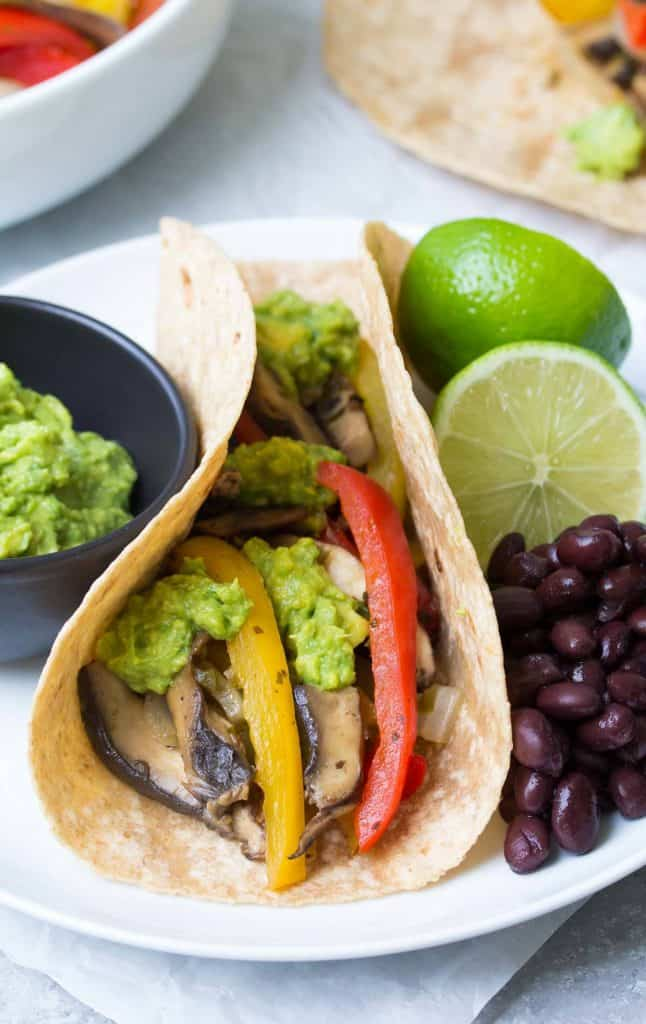 portobello tacos + vegetarian dinner recipes