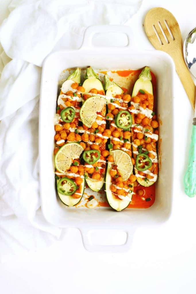 stuffed zucchini + vegetarian dinner recipes