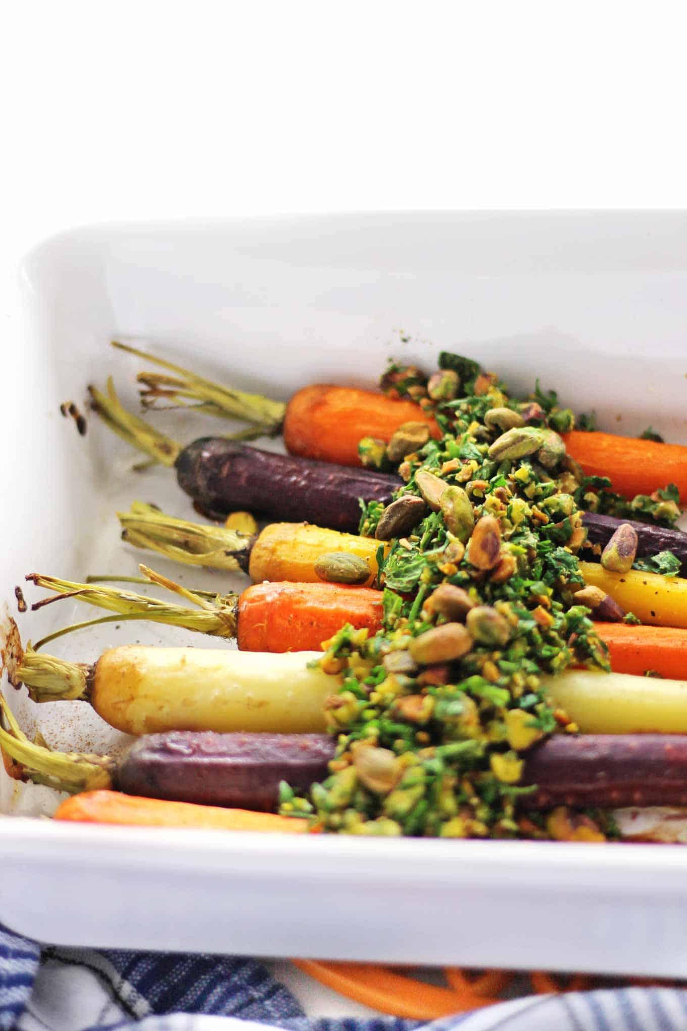 carrots with pistachio