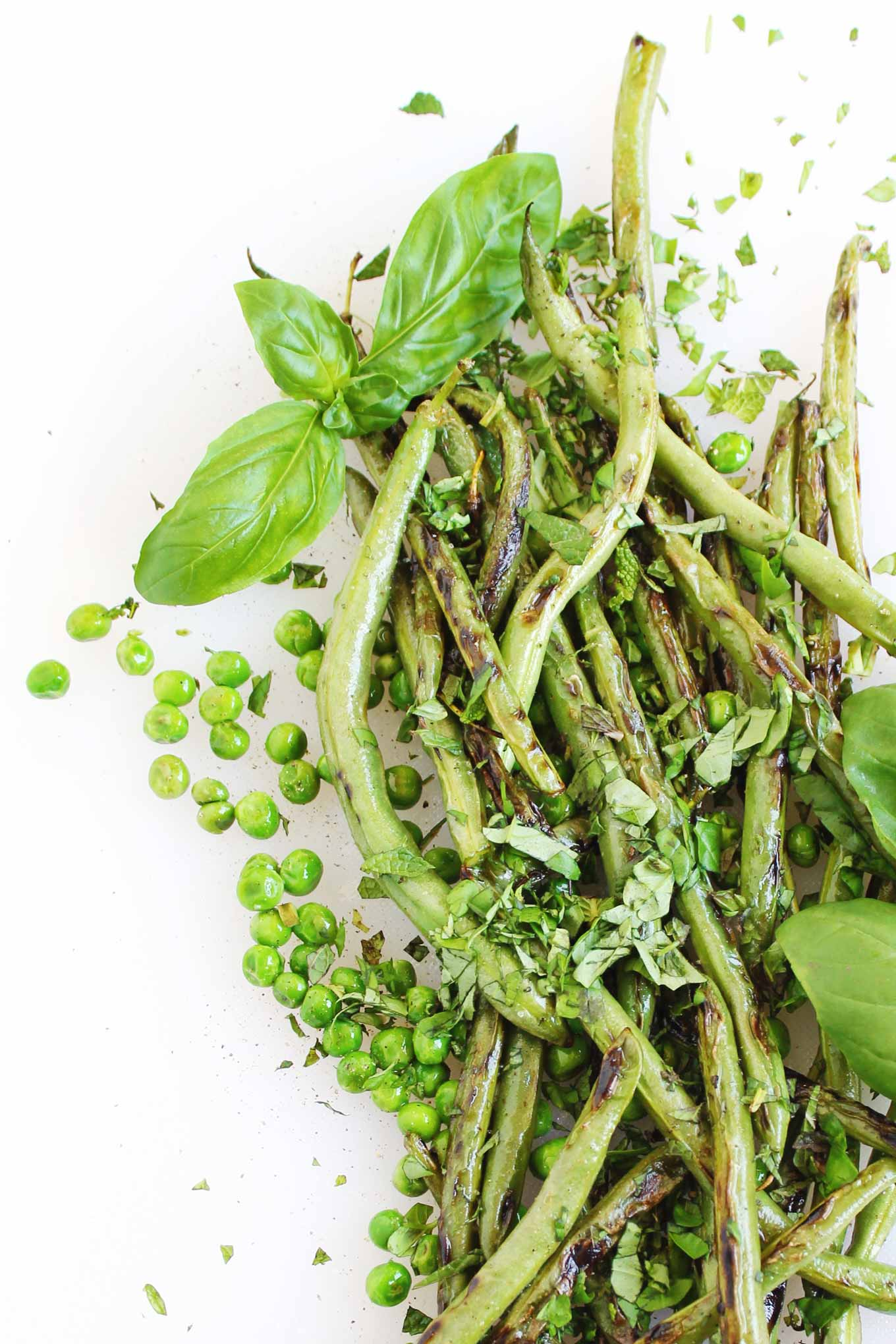 green bean salad with peas