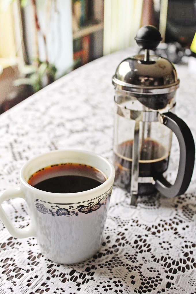 French press colombian coffee