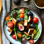 Fig and halloumi salad