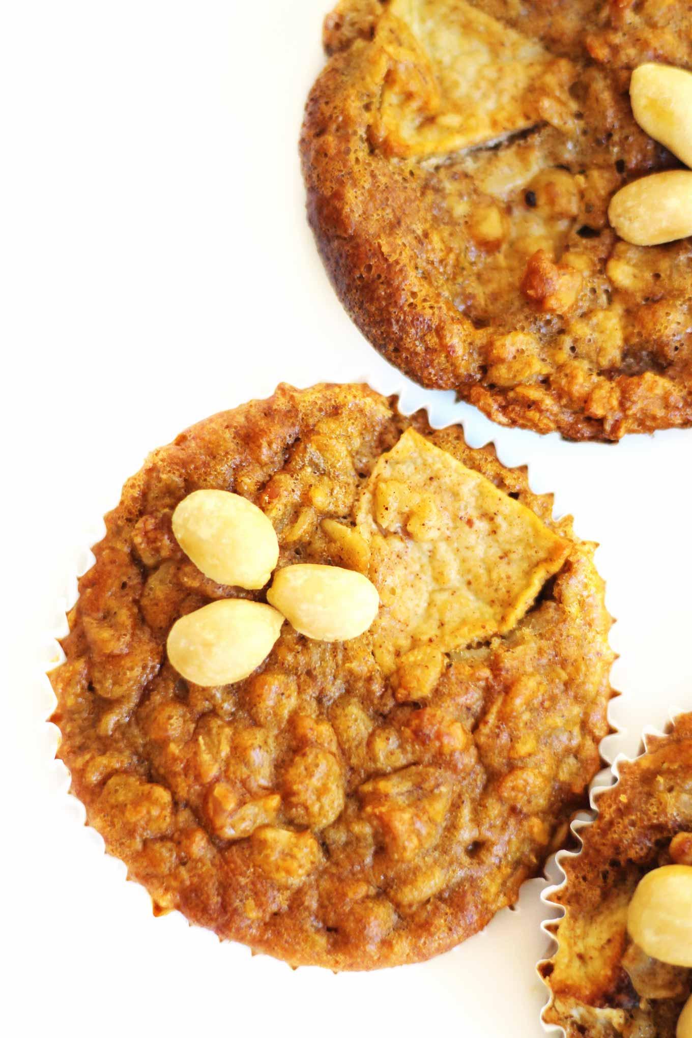 peanut butter apple oatmeal muffin