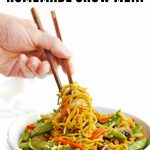 homemade chow mein