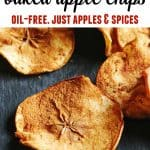 baked apple chips with text