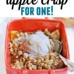 easy apple crisp for one