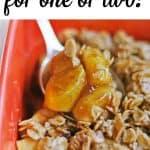 vegan apple crisp for one or two