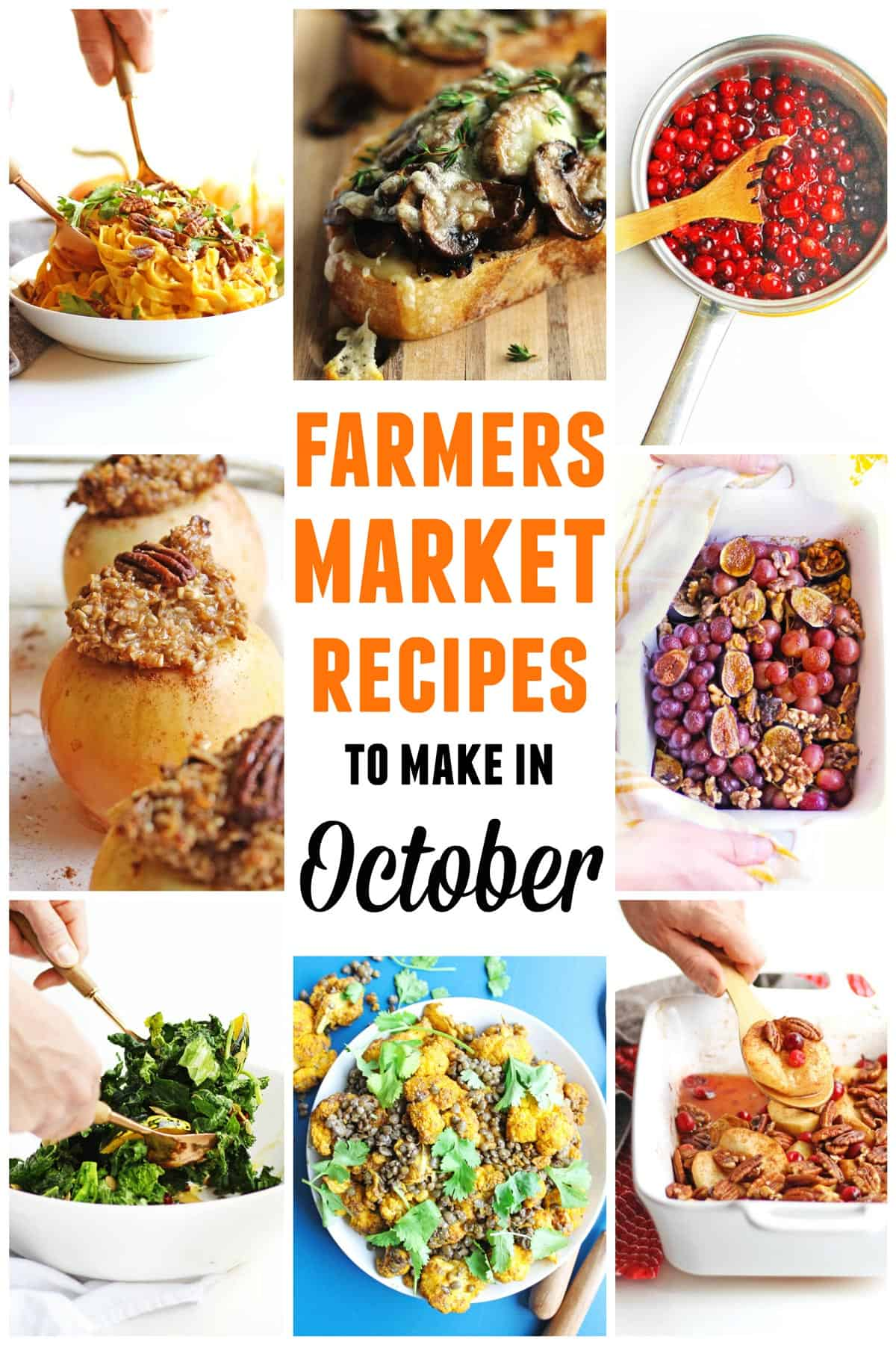 Farmers market October recipes