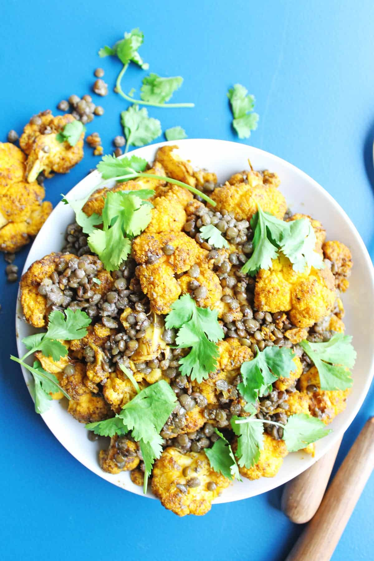 Cauliflower and lentils