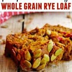 pumpkin cranberry loaf with text