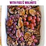 warm roasted grapes thanksgiving
