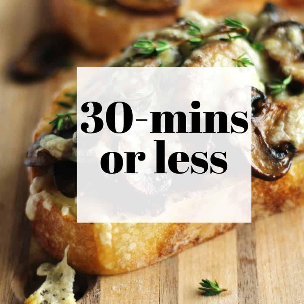 30 mins or less