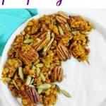 healthy vegan delicious pumpkin granola