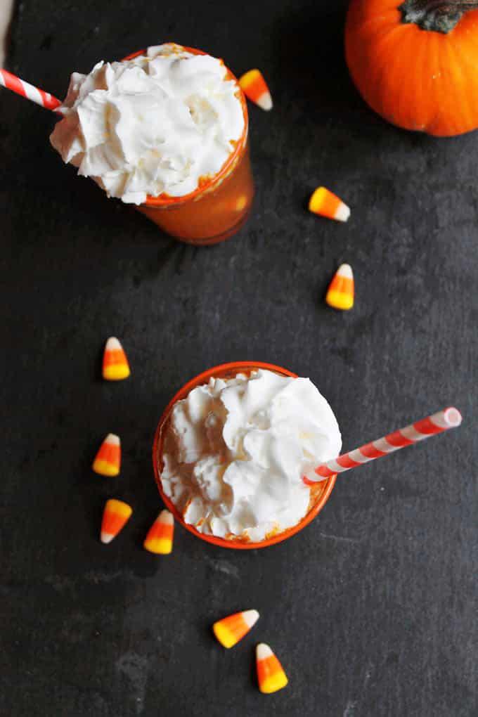 pumpkin soda flatlay