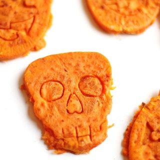 Skeleton sweet potato Halloween bites