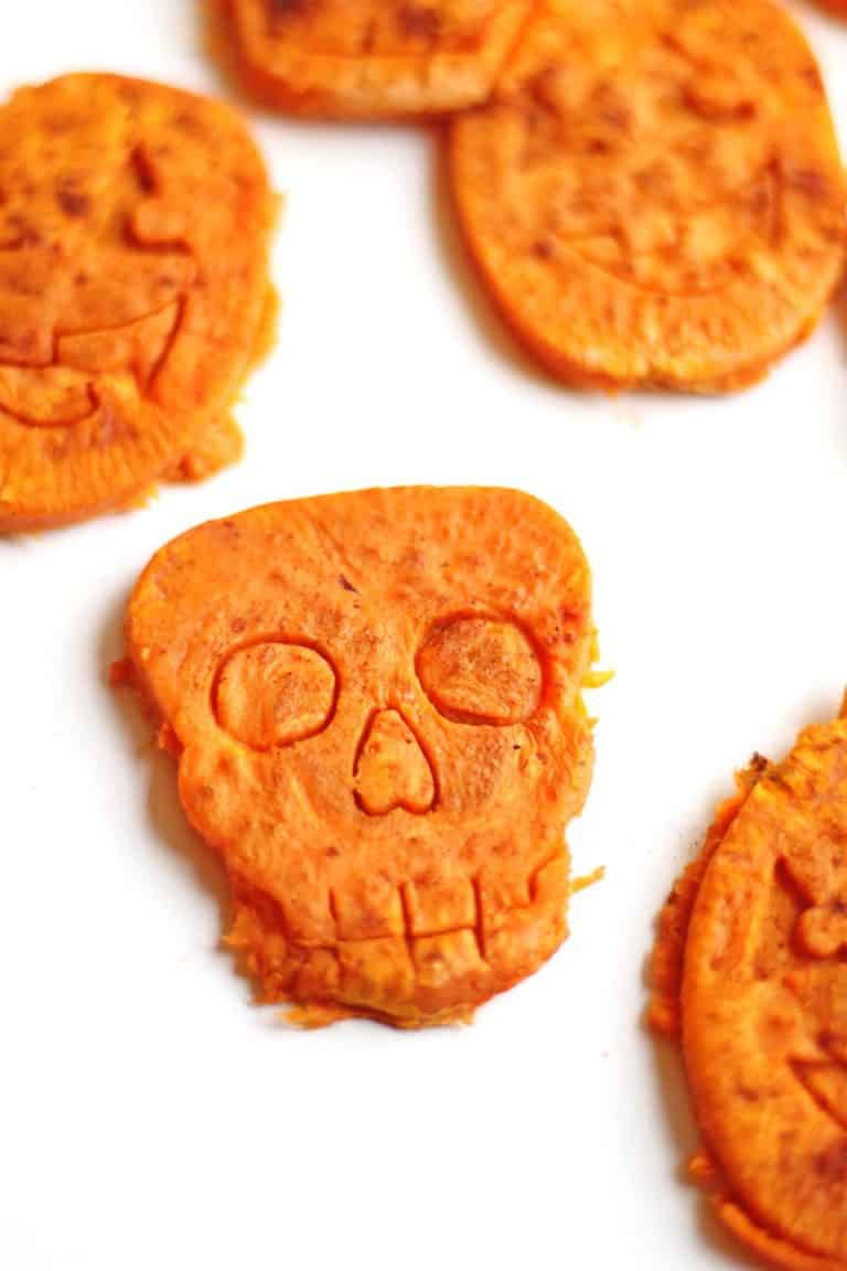Skeleton sweet potato Halloween bites