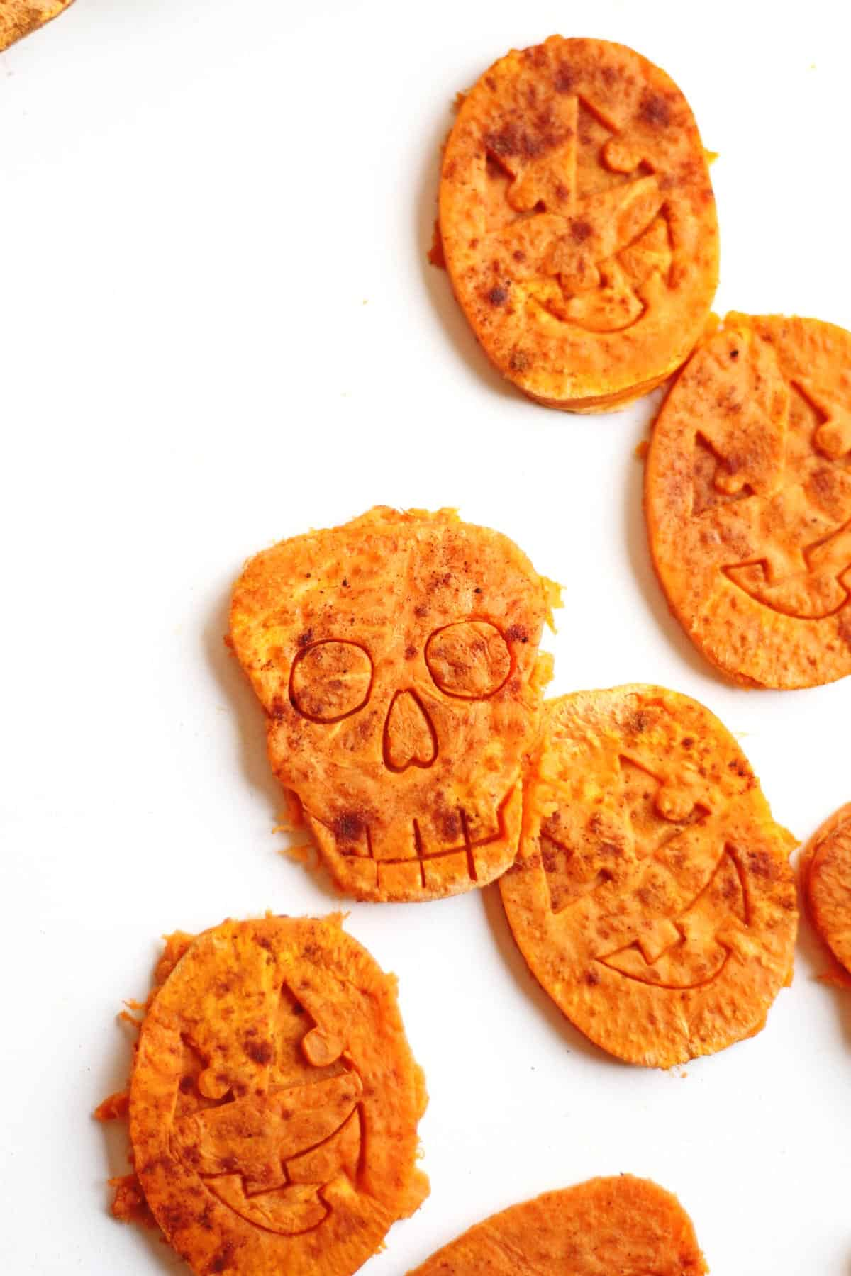 Halloween shaped sweet potato