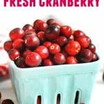 how to cook with fresh cranberry