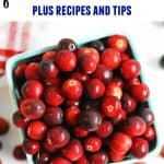 how to freeze fresh cranberries