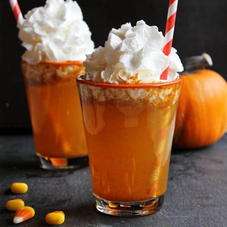 pumpkin soda with whipped cream