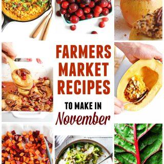 Farmers market November recipes