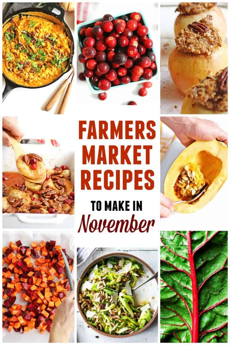 Farmers market November recipes