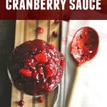 bourbon and apple cranberry sauce